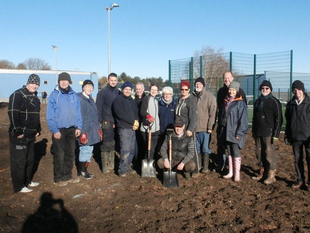Some of the volunteers from the planting day, 19th November 2013